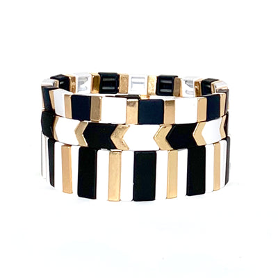 Bubbles Triple Stack Tila Bracelet