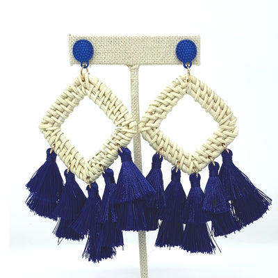Navy Cabana Earrings