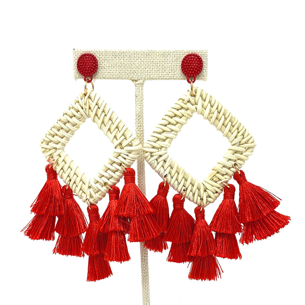 Red Cabana Earrings