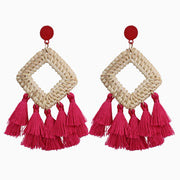Raspberry Cabana Earrings