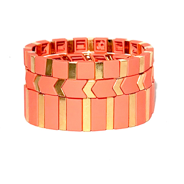 Rose Triple Stack Tila Bracelet