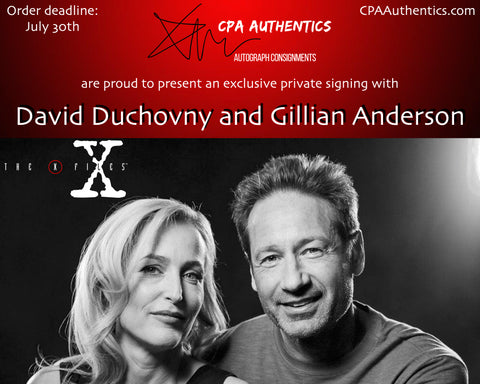 Dual Signed Gillian Anderson and David Duchovny