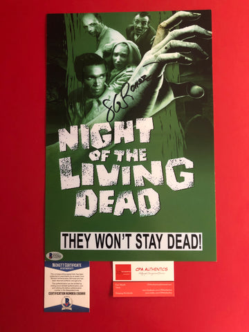 "George Romero signed 10"" x 15"" Night of the Living Dead Poster - BAS COA"