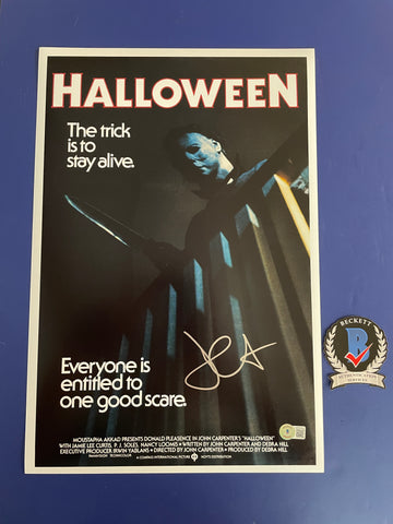 "Brian Andrews signed 8""x10"" Halloween Michael Myers Photo - Beckett COA"