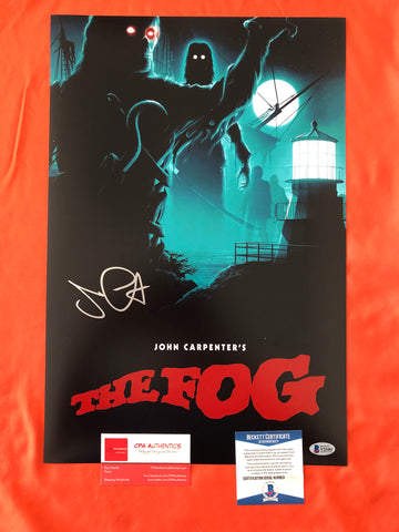 "John Carpenter signed 12"" x 18"" The Fog Poster - Beckett COA"