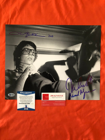 "Nick Castle John Michael Graham signed 11"" x 14"" Halloween photo - Beckett COA"