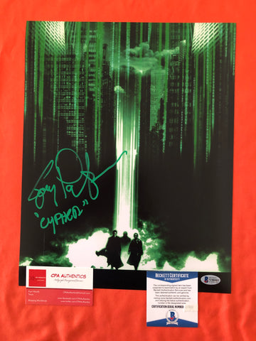 "Joe Pantoliano signed 11""x14"" The Matrix Poster - Beckett COA"