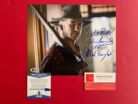 "John Jarratt signed 8""x10"" Wolf Creek Photo - Beckett COA"