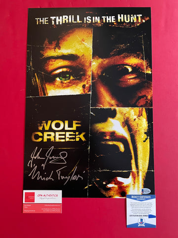 "John Jarratt signed 12""x18"" Wolf Creek Poster - Beckett COA"