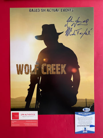 "John Jarratt signed 11""x14"" Wolf Creek Photo - Beckett COA"