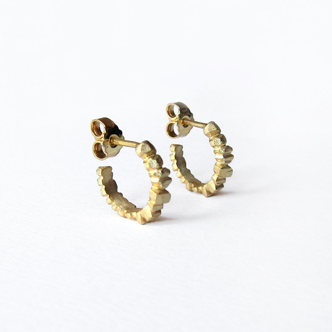 Crystallized Hoops - Golden