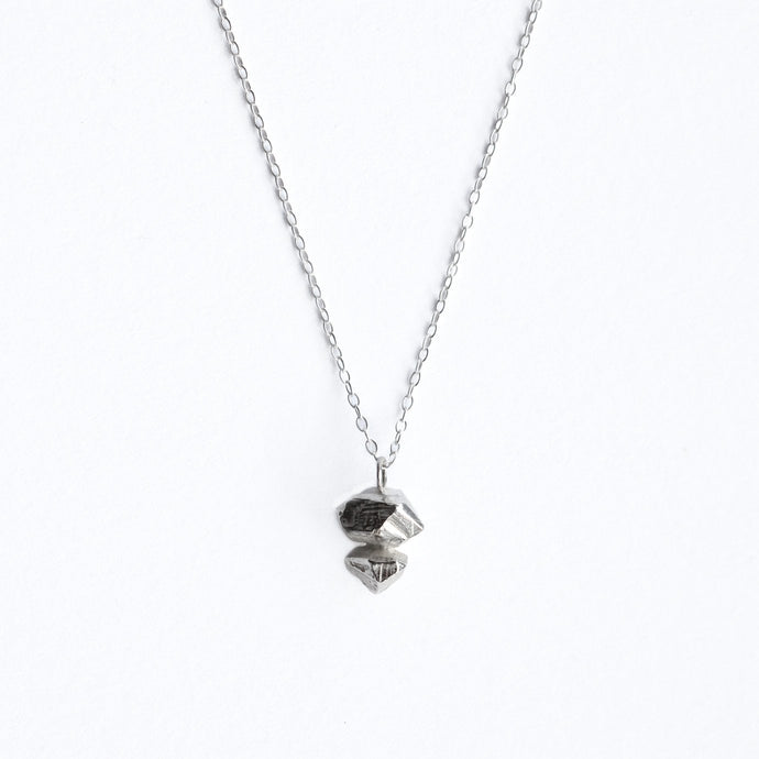 Small Crystal Necklace - Silver