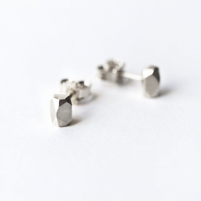 Crystal Studs - Silver