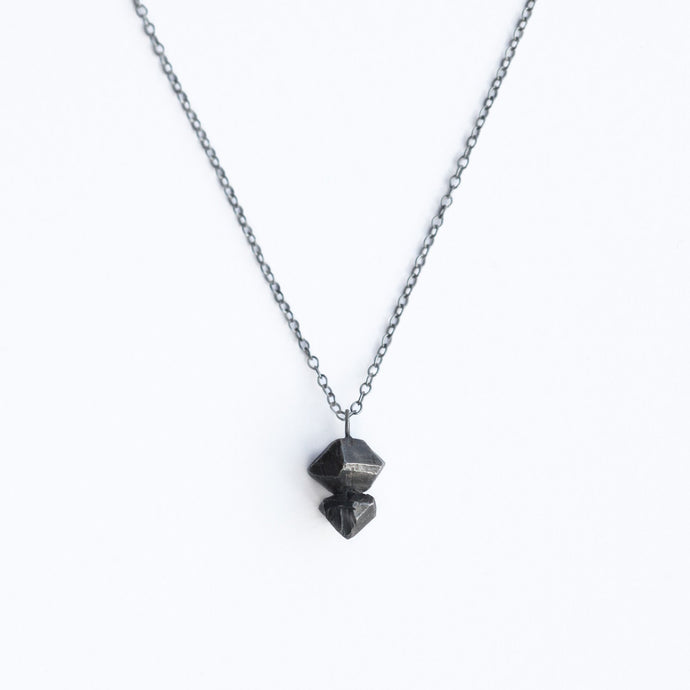 Small Crystal Necklace - Dark