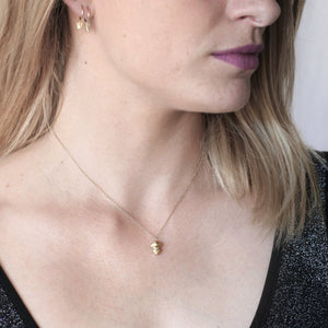 Small Crystal Necklace - Golden