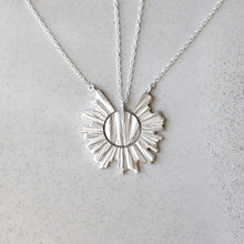Load image into Gallery viewer, Sun Necklace - Silver