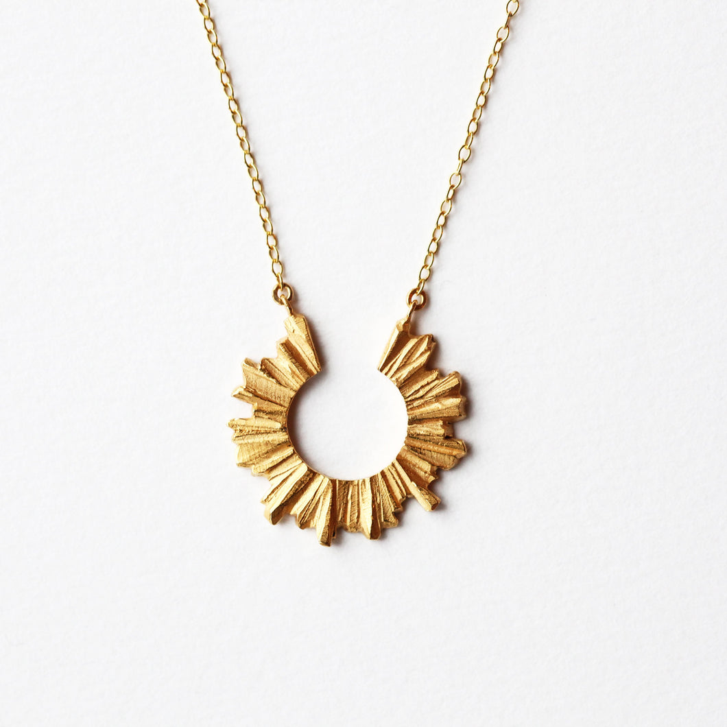 Sun Necklace - Golden
