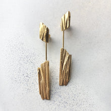 Load image into Gallery viewer, Kyanite Earrings - Golden