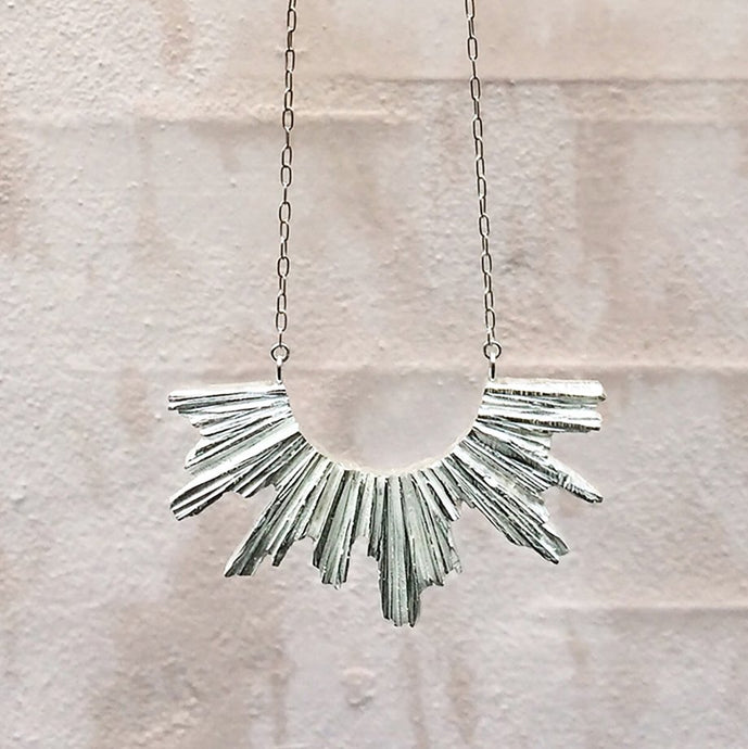 Pectolite Necklace - Silver