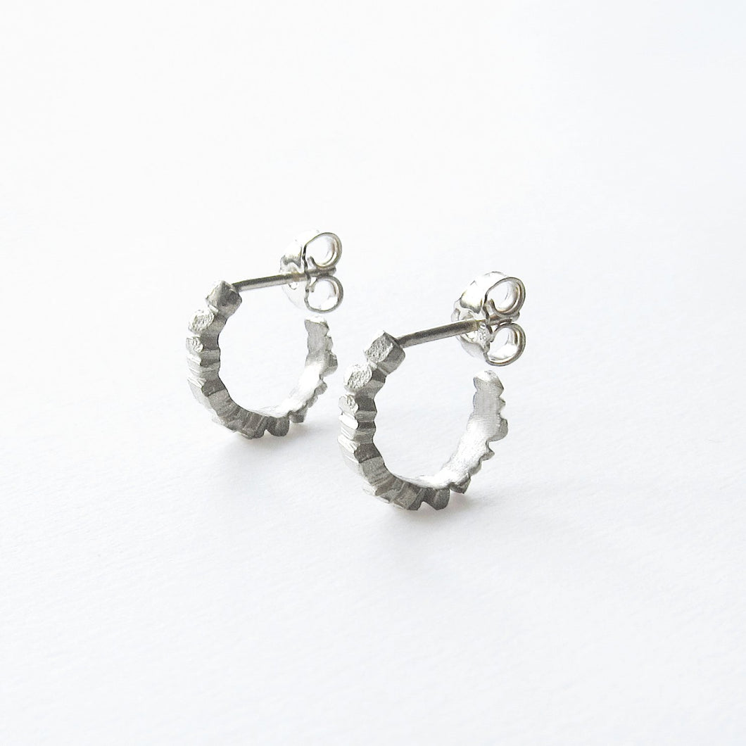 Crystallized Hoops - Silver