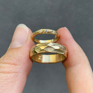 Bespoke wedding bands in 18 karat gold