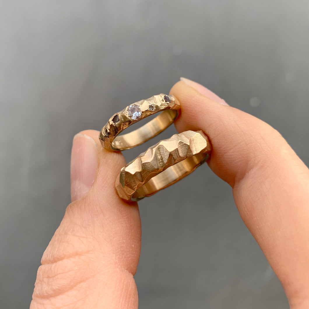 Bespoke wedding bands in 14 karat gold