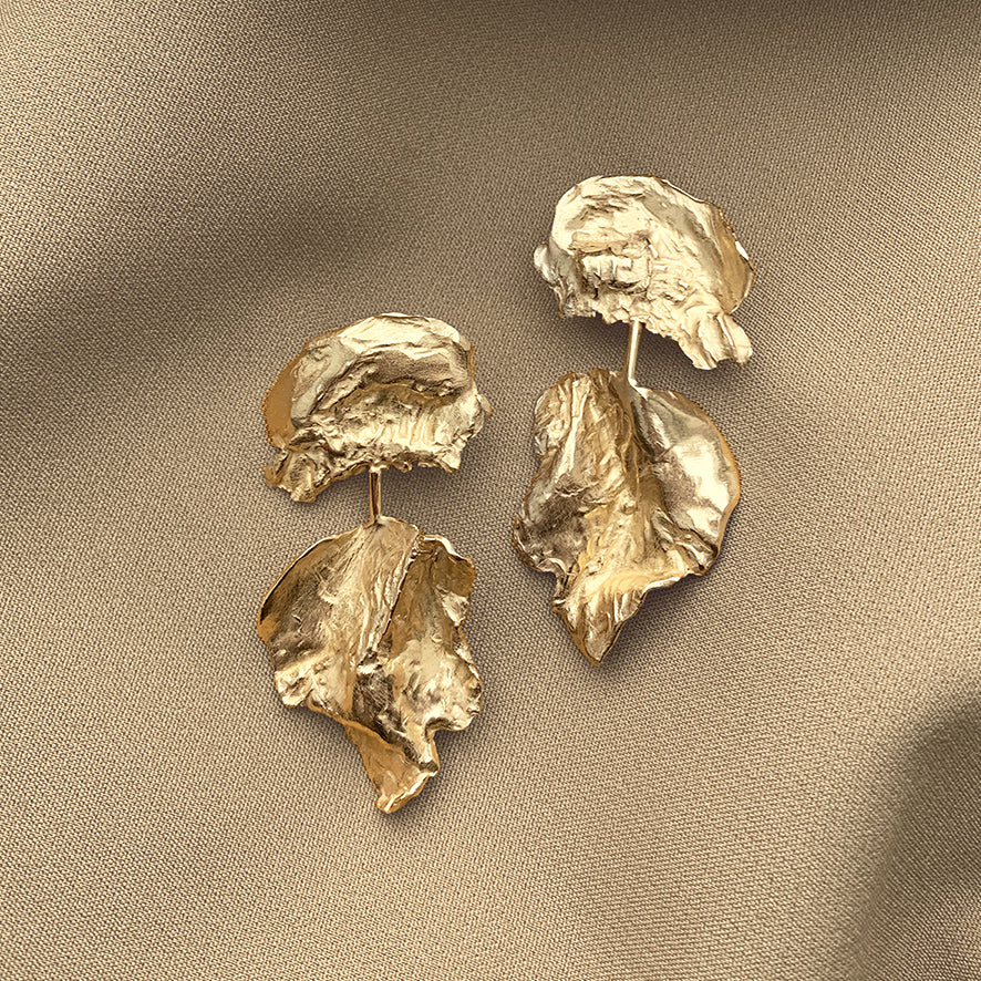 Dewfall Earrings - Golden