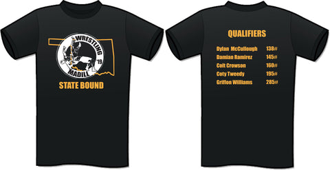 Madill Wrestling State Qualifiers Tee