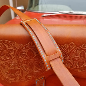 Tooled Leather Cross Body Purse