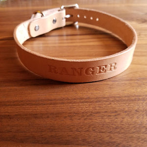Personalized Leather Dog Collars – Genuine Leather