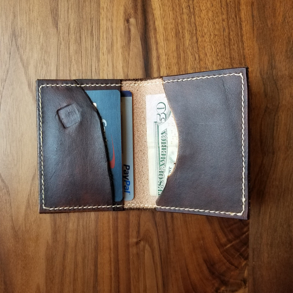 Chocolate Brown Leather Bi-fold Wallet