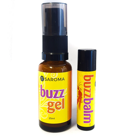 Natural insect bite remedy Buzzbalm & Buzz Gel