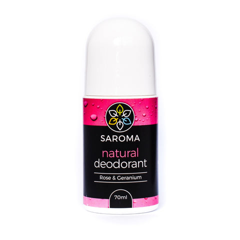 Saroma natural deodorant rose and geranium 70ml roll-on