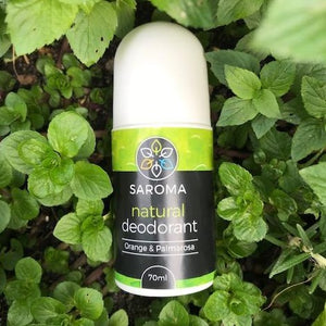 natural deodorant in natural setting,  no nasty chemical, ingredients found in nature
