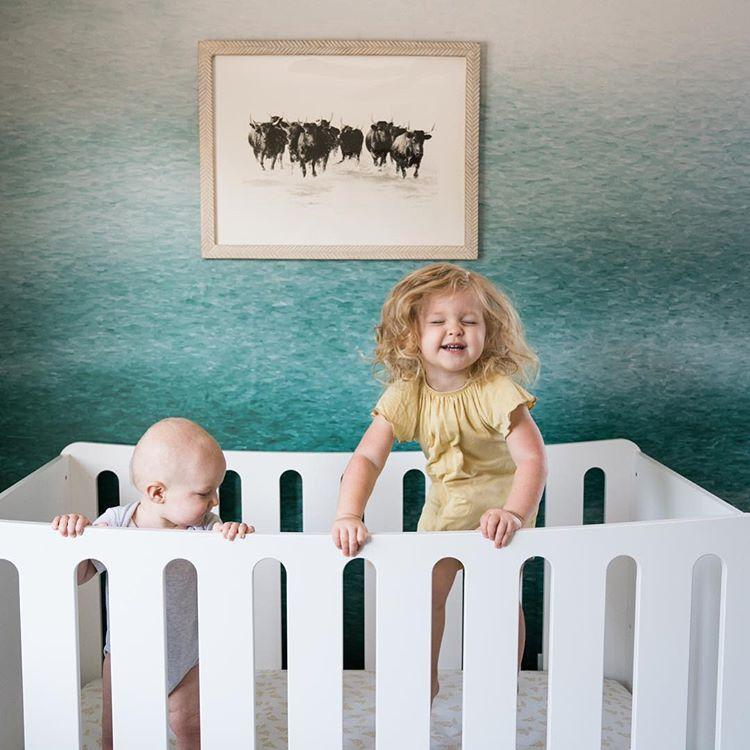 Micuna Harmony Convertible Crib in White/Natural