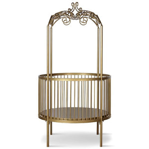 Corsican Round Fancy Canopy Crib (includes mattress)