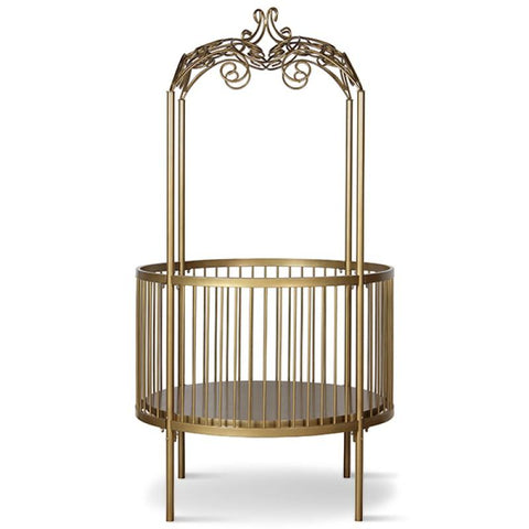 Image of Corsican Round Fancy Canopy Crib (includes mattress)