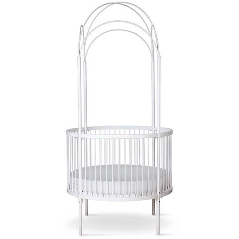 Image of Corsican Round Canopy Crib (includes mattress)