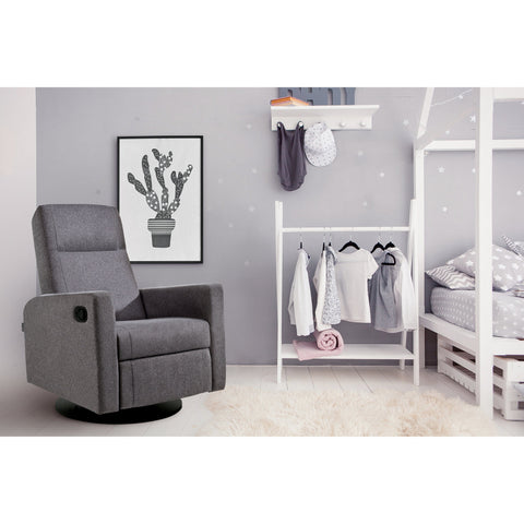 Dutailier Lula Swivel Glider With Integrated Footrest
