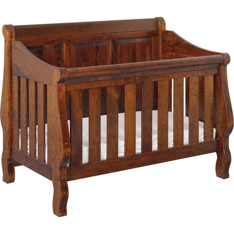 Image of American Baby Classics Heirloom Crib With Back Panel