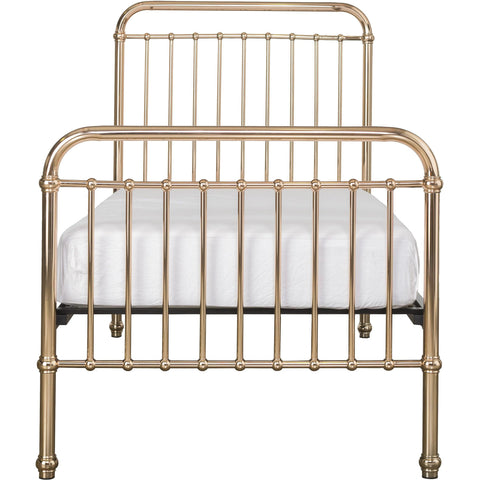 Image of Incy Interiors Eden Twin Bed in Rose Gold