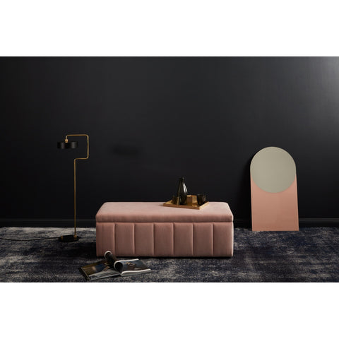 Incy Interiors Sybilla Ottoman in Sorbet Pink