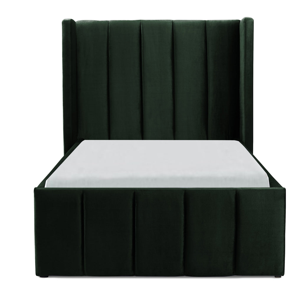 Incy Interiors Innika Twin Bed in Forest Green