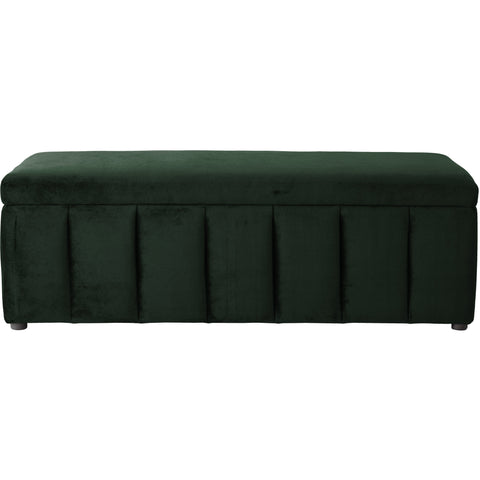 Image of Incy Interiors Innika Ottoman in Forest Green