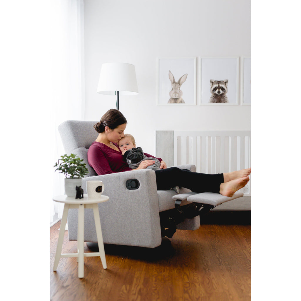 Dutailier Kallia Swivel Glider With Integrated Footrest