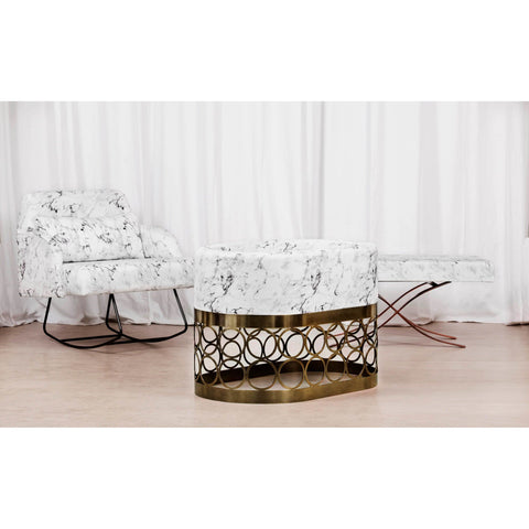 Bassinet - Aristot Bassinet Carrara Marble + Rondo Gold Base