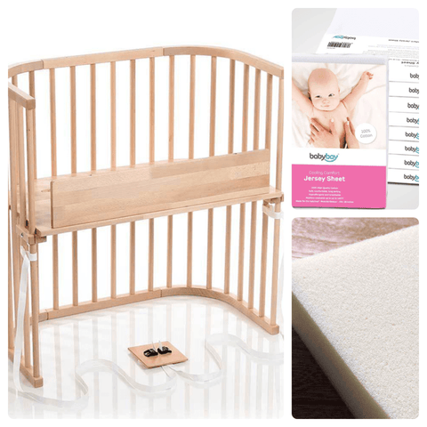 Image of Bassinet - Babybay Convertible Bedside Sleeper - Basics Bundle