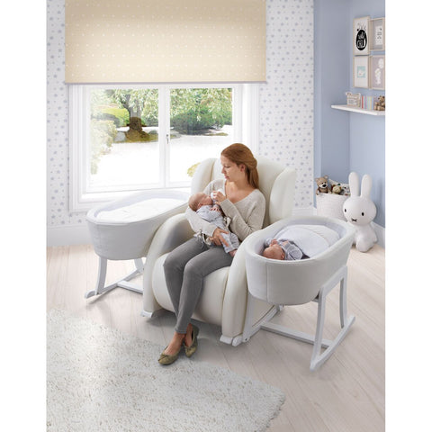Image of Chair - Flor Nursery Rocking Chair & Nacelle Bassinet