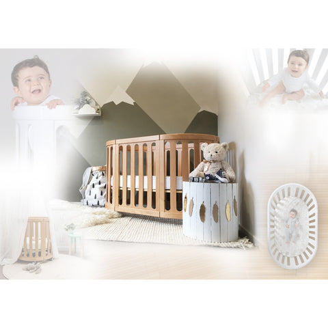 Image of Crib - Nest 4-in-1 Crib And Bassinet (includes Cocoon Smart Mattress)