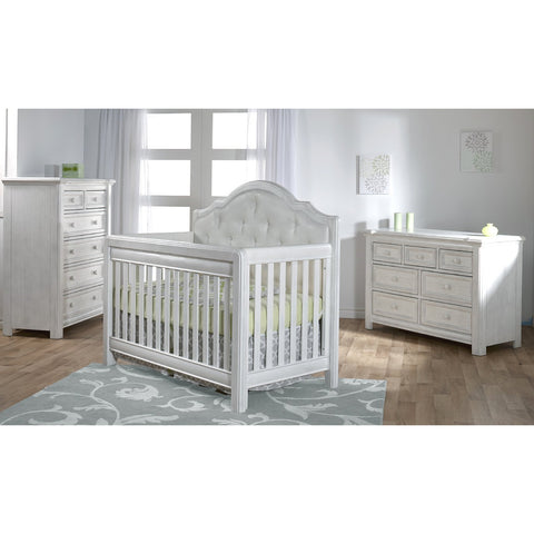 Image of Crib - Pali Cristallo Forever Convertible Crib (Fabric Panel)